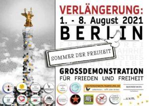 """Wichtige Informationen für den 1. August 2021 dem """"Sommer der Freiheit"""""""