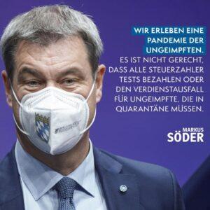 """Ein Faktencheck zu Söders Aussage: """"Wir erleben eine Pandemie der Ungeimpften"""""""